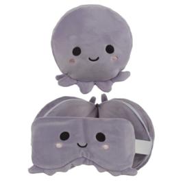 Releaxeazz Round Travel Pillow & Eye Mask Octopus
