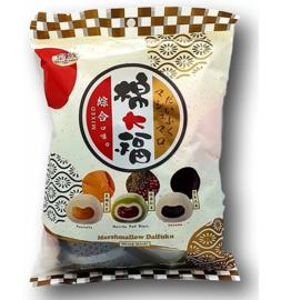Mochi uitdeelverpakking - 3 x mix peanut + matcha red bean + sesame