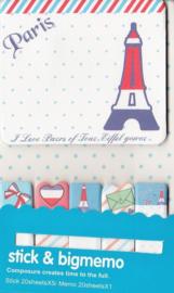 Stick & Big Memo - Paris - Haftnotizen / Index-Streifen