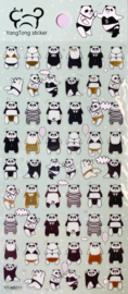 Stickersheet Seal Panda