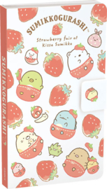 Memoblok San-X Sumikkogurashi Strawberry Fair met Sticky Notes