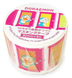 Washi tape - Doraemon DoraCan Pink