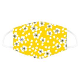 Facemask - Yellow Flowers