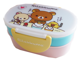 Kawaii bentobox double Rilakkuma Chopstick Blau