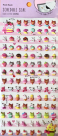 Stickersheet puffy Cute Food