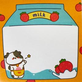 Kawaii Sticky Notes - Cow Milk