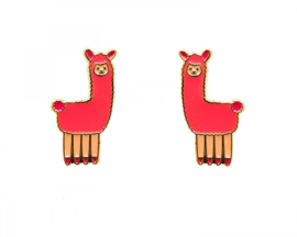 Kawaii Earrings - Alpaca