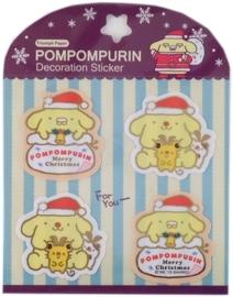 (sluit)Stickers kerst Pom Pom Purin