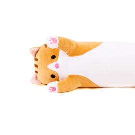 Long Kawaii Cat Plush - BROWN