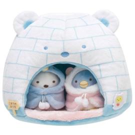 San-X Sumikkogurashi - Sumikko Iglo Plushie House + mini plushies