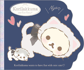 Memopad Large San-X Korilakkuma cute cats blue