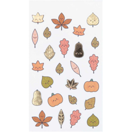 Aufkleber - fall leaves