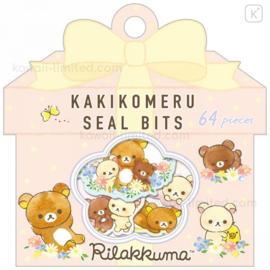 Stickerbag San-X- Rilakkuma - Kakikomeru Seal Bits - Flower