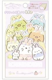 Stickynotes Die-Cut Sumikko Gurashi - Fushigina Usagi No Oniwa - Happy family