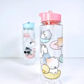 Drinkfles met rietje - Cutiesquad Poolfloat Cats
