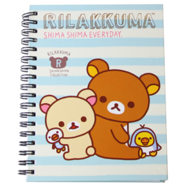 Notebook San-X Rilakkuma Shima Shima Blauw