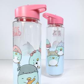 Drinkfles met rietje - Cutiesquad Kawaii Penguins