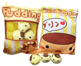 Plushie Pudding bag - yellow