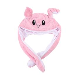 Kawaii muts met bewegende oren - Roze