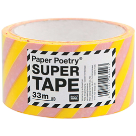 XL tape yellow and pink stripes