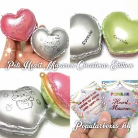 Squishy-Anhänger Poli Xmas Heart Macaron
