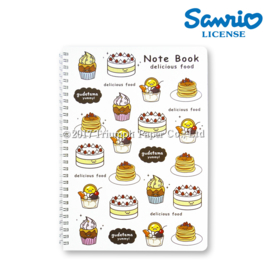 Notebook Big Gudetama Delicious Food