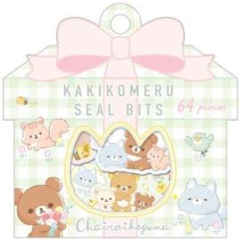Sticker bag San-X- Chairoi Koguma No Otomodachi - Kakikomeru Seal Bits
