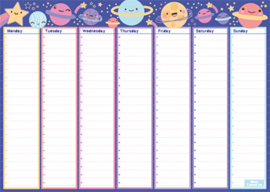 A4 Kawaii (huiswerk)planner Space