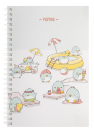Notebook A5 - Summer Penguins - Cutiesquad