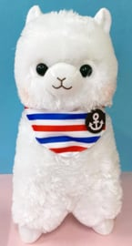 AMUSE Alpacasso Marine XL Plush White (45cm)