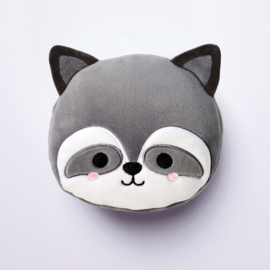 Releaxeazz Plushie Raccoon travel pillow with sleeping mask