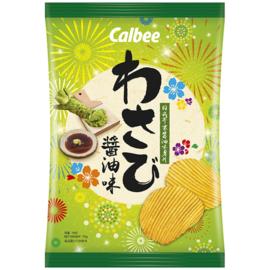 Calbee Crinkle Cut Chips - Wasabi