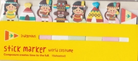 Sticky Notes  World Costume - Indigenous