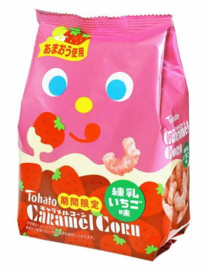 Caramel Corn Strawberry Milk