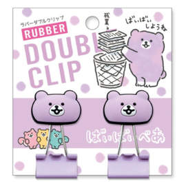 Rubber paperclip - Bear