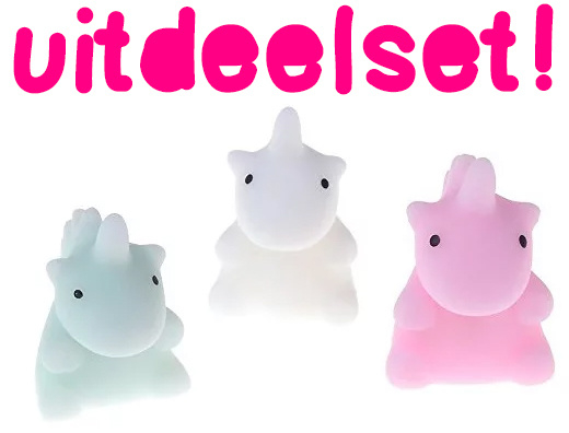 10 x Stretchy Jelly Squishy Unicorn