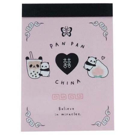 Memoblok klein Panda Bubble Tea