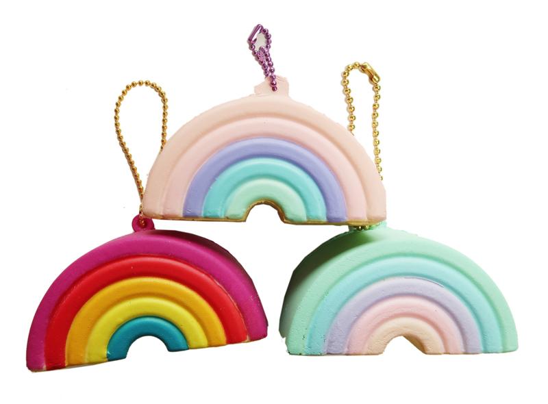Squishy Mini Rainbow Keychain