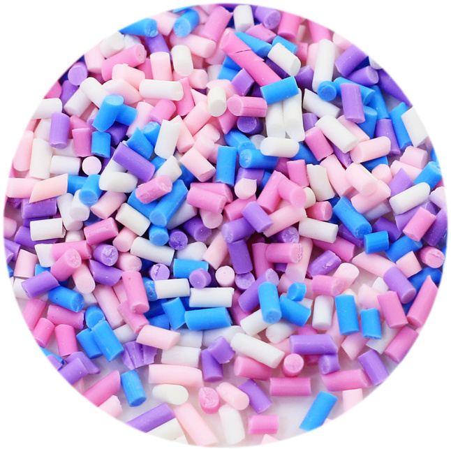 DIY Sprinkles - pink/purple/blue