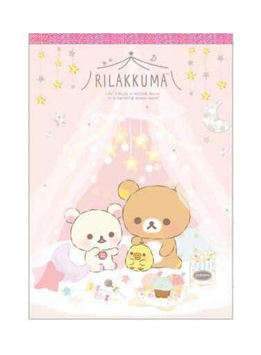 Memoblok groot Rilakkuma Pyjama Party