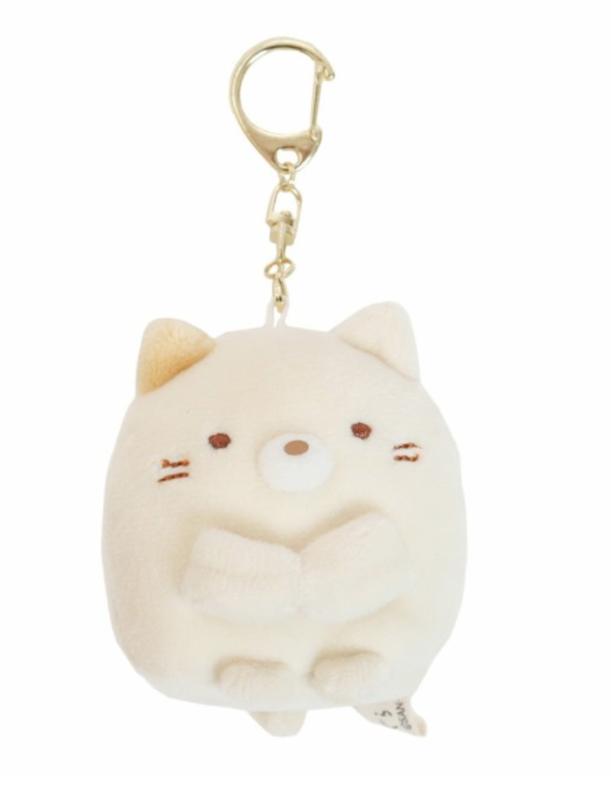 Sumikkogurashi cat plush beige 6cm - keychain