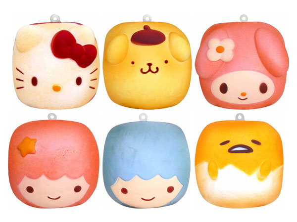 Squishy Gift Box - 6 licensed squishies - Sanrio Chigiri