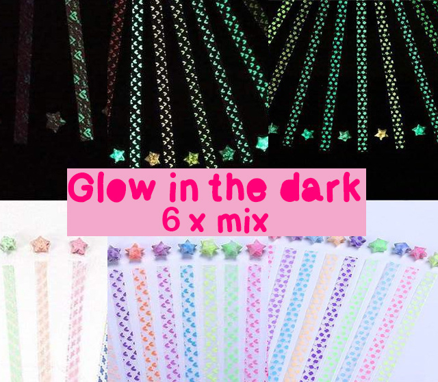 Lucky star glow in the dark - 6 x mix pattern