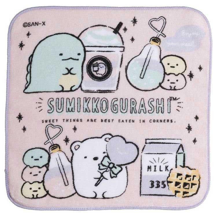 Mini Handtuch 21 x 21 cm Sumikkogurashi Pastel Milkshake