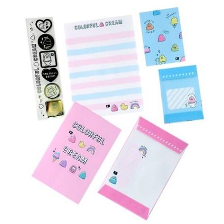 Mini Briefpapierset Colorful Cream
