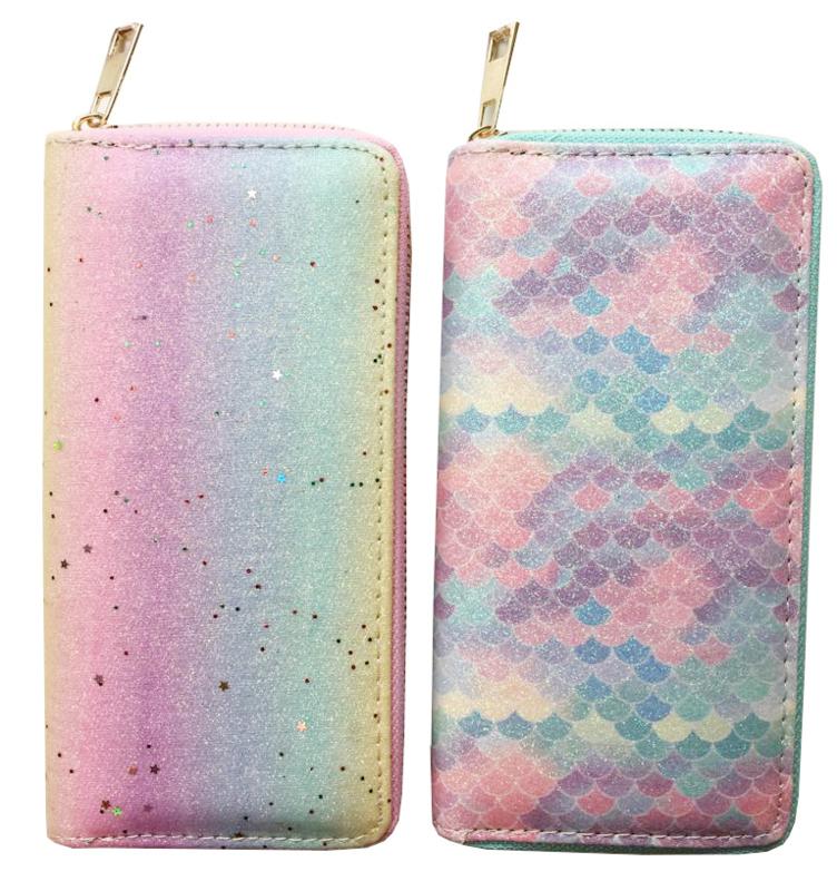 Glitter Brieftasche - Rainbow oder Mermaid