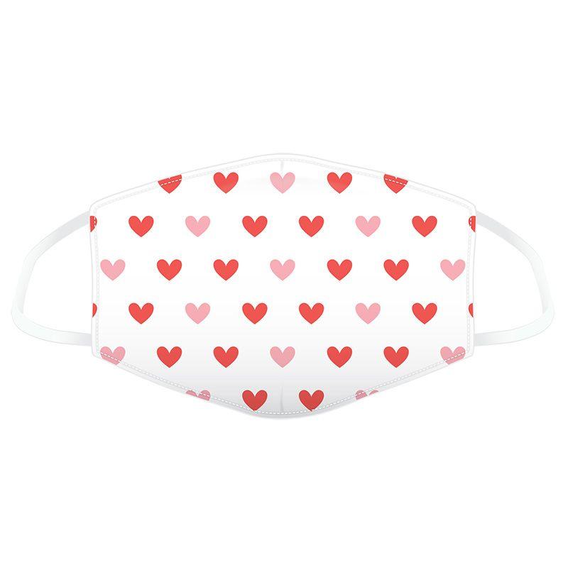 Süße Mund-Nasenmaske - Hearts <3