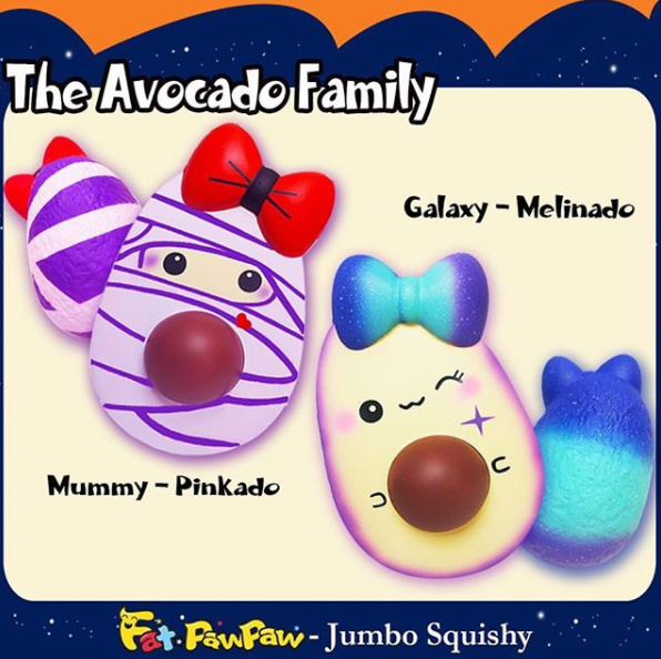 Squishy The Avocado Family - Galaxy or Mummy
