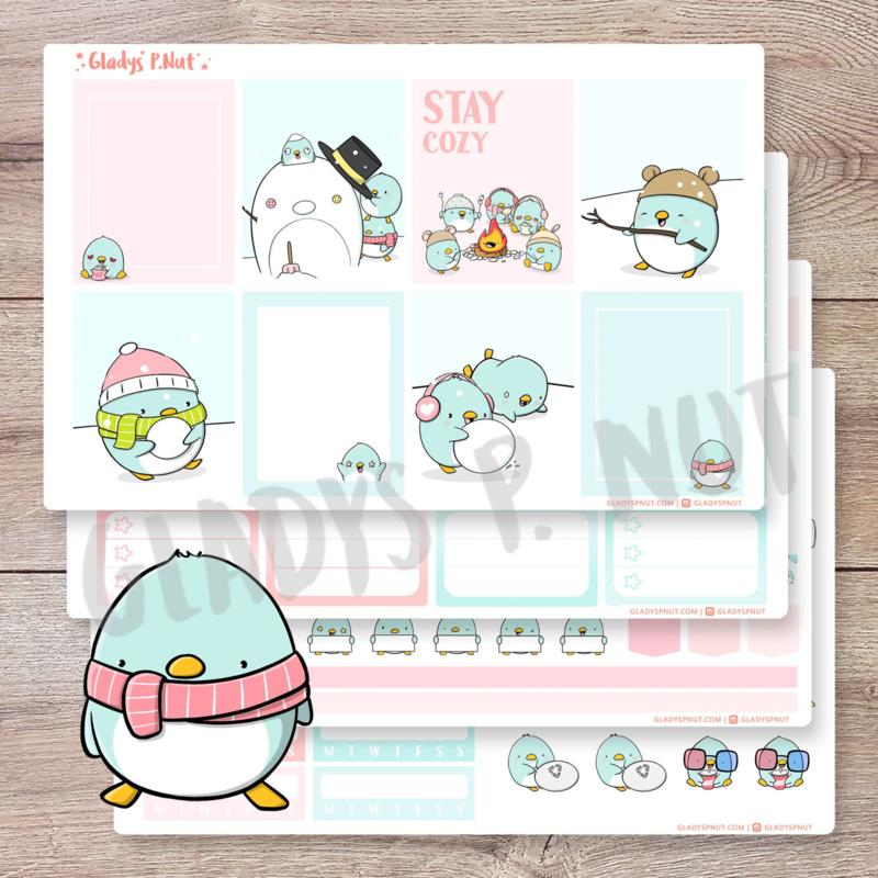 Planner Sticker Kit - Penguins - CutieSquad