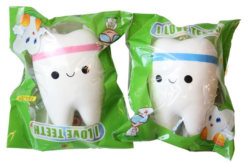 Squishy Kawaii Tooth - Kies je kleur